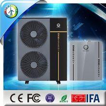 Air source floor heating system water pressure accumulators and hot water supply