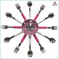 2015การออกแบบใหม่สายโลหะdiyนาฬิกาครัวจับถอดออกได้