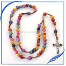 cheap wooden bead rosary, rosary necklace,catholic rosary beads