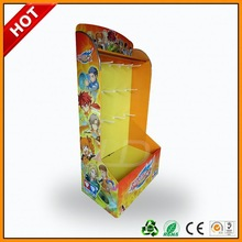 nintendo 3ds game cardoboard pallet display ,nice cardboard display for toy ,new designed hook display stand for toys