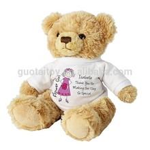 Thanksgiving plush stuffed teddy bear with t-shirt