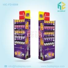 Cardboard advertsing display stands,floor standing advertising display stand