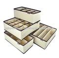 Cajón divisores de los organizadores del armario del sujetador ropa interior cajas de almacenaje( conjunto de 4)