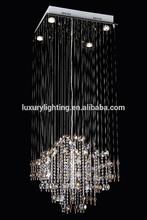 Modern crystal celing light chandelier with crystal beads for indoor