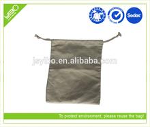 Foldable reusable oem odm custom promotional cotton drawstring backpack bag