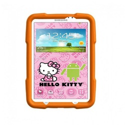 kids rugged tablet case for Samsung Galaxy Tab3 7.0, hello kitty shockproof case for kids Galaxy Tab3 7.0 case