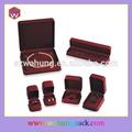 Buena calidad caja de joyería de terciopelo, Joyería de sistemas de la caja, Caja marrón
