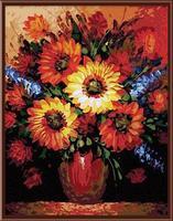 Wholesale CE DIY digital 40*50 daisies flower oil painting by number