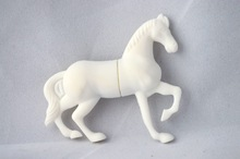 Innovative gadget white Horse shape usb thumbdrives flash stick