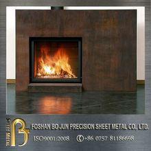 custom outdoor corten steel fireplace