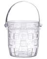 Fonctionnelle transparente en plastique seau à glace avec Tong / poignée