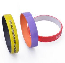 Custom Cheap Thin Plain Silicone Wristbands