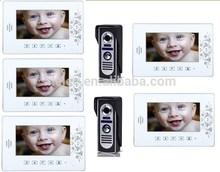 7''LCD luxury Color Video doorphone intercom system/doo bell/video door phone 2 to5,5 monitor