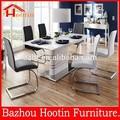 2015 novo design pintura alto brilho mesa e uma prateleira de metal e base de mesa de jantar para a mobília da sala