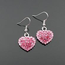 Lead & Cadmium Free Studded Heart Fashion Dangle Earring