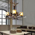 china supplier christmas decoration David Hunter antler resin and metal pendant lighting