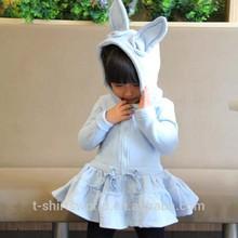 Fleece Children girl animal hoodie with ears