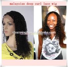 china charming natural color aaaaaa brazilian deep curls lace wig