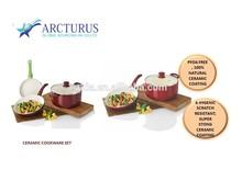 aluminum cookware set with cearmic coating