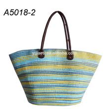 Stripe Cotton / PP Material Women's Shopping Bag