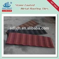 Stone granules coated overglaze steel roofing tiles