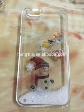 Merry Christmas, Santa Claus, Unique design liquid case 3D hard cover for iphone 5s, snow man, Happy Festival