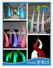 inflatable LED decoration/inflatable LED spike decoration/lighting inflatable spike
