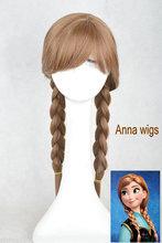 Cosplay frozen Anna wig 100%High temperature nylon hair