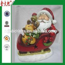 2015 High Quality New Design santa claus garden ornament