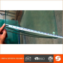 2014 hot sale glass dining curved glass table