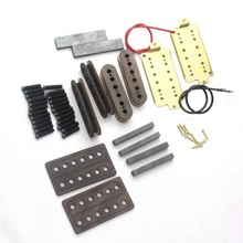 Guitar Humbucker Pickup Kit,Long Leg baseplate,Rosewood bobbins(50mm + 52mm)