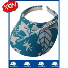 alibaba china supplier OEM custom logo printed womensun visor cap and hat