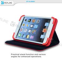 Factory Directly universal leather case,velcro universal case leather,universal pu tablet case for ipad mini 1/2