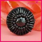fancy black bulk rhinestone shirt buttons for garment WBK-1415