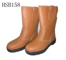 knee high heavy working site rigger personal protective equipment steel toe mining boots