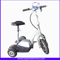 Foldable Cheap Price Adults Tricycle Transporter 48V Brushless Motor 3 Wheel Electric Scooter