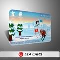 Campione gratuito personalizzato pvc ricarica telefonica della scheda con stampa a colori/biglietto da visita