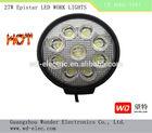 27W 9PCS high intensity LED work lamp for car