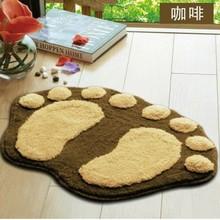 modern floor mat,foot shaped wool carpet,cheaper shaggy carpet with plush