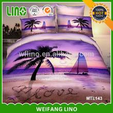 bedding 3D landscape/hand stitch bed cover/bedding duvet set