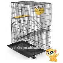 "48"" Pet Chinchilla Hamster Ferret Rat Folding Big Metal Cat Cage"