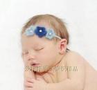 newborn cotton cheap knit Cute Toddler Infant Children wool flower hairband crochet baby headband