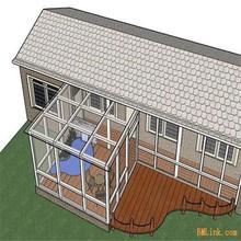Energy efficient double-pane insulated glass aluminium portable sunroom