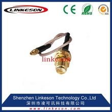(hot sale)MMCX male plug to RP-SMA female male pin pigtail cable RG316 15cm for wireless