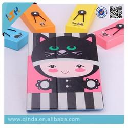QinD 2014 New Arrivalpu Ultrathin Cartoon Leather Case For iPad Air 2 iPad 6