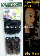 Stefull hair new arrive japanese fiber synthetic hair bulk