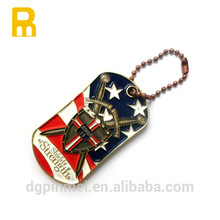 America University novelty latest logo tags for pet item with various color