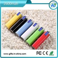 led screen power bank 2600mah shenzhen factory direct free samples