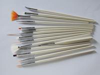 2015 yiwu kaho New design fashion makeup brushes nail brush set brush acrylic nail