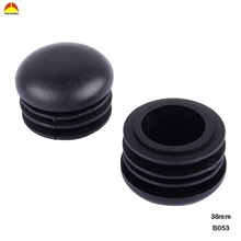 PVC black round exporting made in DongGuan rubber insert pipe